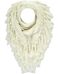 Forever 21 - Fringe Marled Triangle Scarf - Lyst