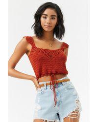 Forever 21 - Crochet Crop Top - Lyst