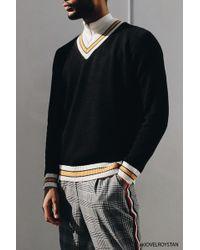 Forever 21 - Contrast Striped V-neck Jumper - Lyst