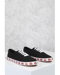 Forever 21 | Rose Printed Sole Sneakers | Lyst