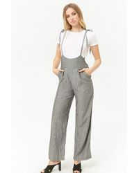2b3d87ea39d3 Forever 21 - Women s Pinstriped Suspender Trousers - Lyst