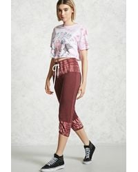 Forever 21 - Cropped Tie-dye Joggers - Lyst