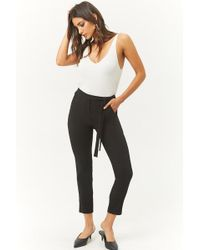Forever 21 - Tie-waist Tapered Pants - Lyst