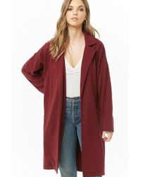 Forever 21 - Women's French Terry Trench Coat - Lyst