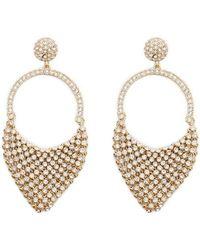 Forever 21 - Women's Rhinestone Chainmail Drop Earrings - Lyst