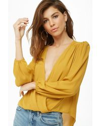 Forever 21 - Chiffon Surplice Top - Lyst