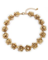 Forever 21 - Rosette Statement Necklace - Lyst