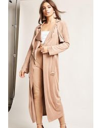Forever 21 - Faux-suede Duster Jacket - Lyst