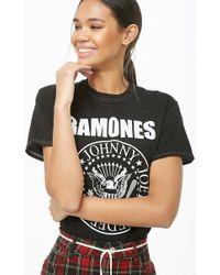 d0f1c6848 Lyst - Missguided Grey Ramones T-shirt Dress in Gray