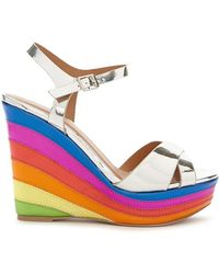 Forever 21 - Qupid Metallic Rainbow Platform Wedges - Lyst