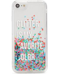 Forever 21 - Glitter Waterfall Phone Case For Iphone 6/7/8 - Lyst