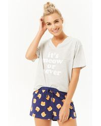 Forever 21 - Its Meow Or Never Pj Set - Lyst