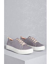 Forever 21 - J Slides Satin Sneakers - Lyst