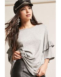 Forever 21 - Ribbed Gathered Top - Lyst
