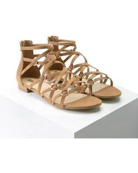 Forever 21 - Faux Suede Strappy Sandals - Lyst