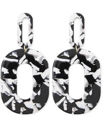 Forever 21 - Oval Marble Cutout Drop Earrings - Lyst