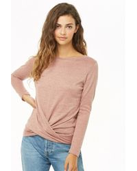 4feae7d66a8f Lyst - Forever 21 Marled Sweater-knit Top in Gray