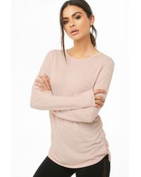 Forever 21 - Active Ruched Crew Neck Top - Lyst
