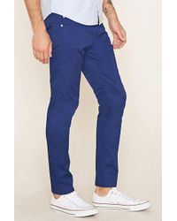 Forever 21 - Cotton-blend Slim Fit Pants - Lyst