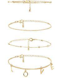 Forever 21 - Love Bracelet Set - Lyst
