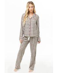 Forever 21 - Women's Check Pyjama Set - Lyst