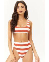b1d9dfab5a4c45 Lyst - Forever 21 Margarita Mermaid Bikini Top in White
