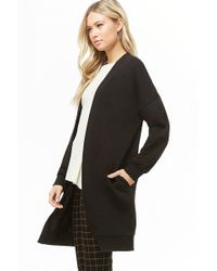 Forever 21 - French Terry Longline Cardigan - Lyst