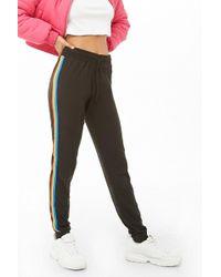 Forever 21 - Rainbow Striped Sweatpants , Black/multi - Lyst