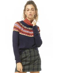 Forever 21 - Geo Embroidered Jumper - Lyst
