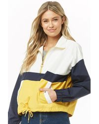 Forever 21 - Colorblock Pullover Jacket - Lyst