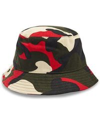 b06635d1dfde3a Forever 21 - Camo Print Bucket Hat , Red/multi - Lyst