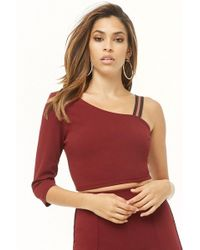 Forever 21 - Asymmetrical One-sleeve Top - Lyst