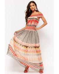 Forever 21 - Ornate Off-the-shoulder Maxi Dress - Lyst