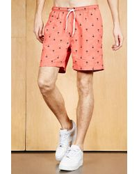 Forever 21 - Trunks Surf & Swim Palm Trunks - Lyst