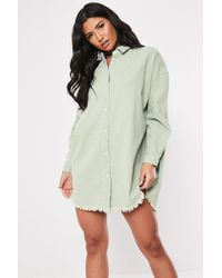Missguided - Distressed-hem Shirt At - Lyst