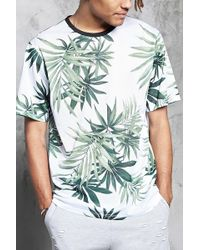 Forever 21 - Tropical Print Mesh Knit Tee - Lyst
