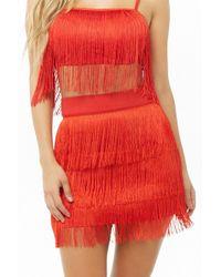 Forever 21 - Women's Fringe Mini Skirt - Lyst