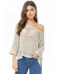 Forever 21 - Marled Open-knit Top - Lyst