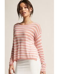 Forever 21 - Stripe Open-knit Top - Lyst
