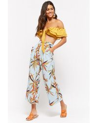 Forever 21 - Tropical Leaf Button-down Trousers - Lyst