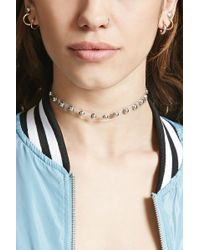 Forever 21 - Studded Clear Choker - Lyst