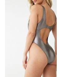 Forever 21 - Metallic Cutout One-piece Swimsuit - Lyst