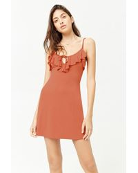 Forever 21 - Women's Ruffle-bib Mini Dress - Lyst