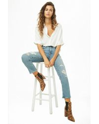 Forever 21 - Levis 724 High-rise Straight Crop Jeans - Lyst