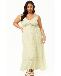 37c04142e934 Forever 21 - Women's Plus Size Lace Trim Maxi Dress - Lyst