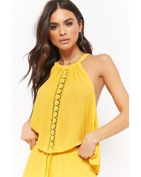 Forever 21 - Amale High Neck Cutout Top - Lyst