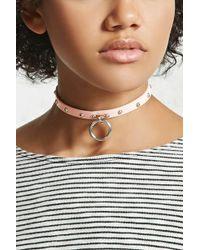 Forever 21 - Studded O-ring Collar Choker - Lyst