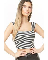 3ed0f1964e0 Forever 21 Ribbed Snap-button Tube Top in Black - Lyst