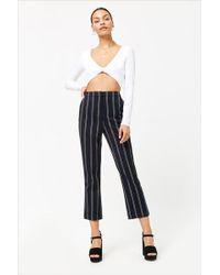 Forever 21 - High-waist Stripe Pants - Lyst