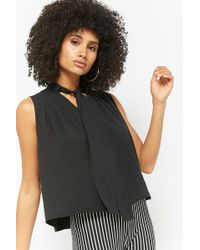 Forever 21 - Pleated Pussybow Top - Lyst